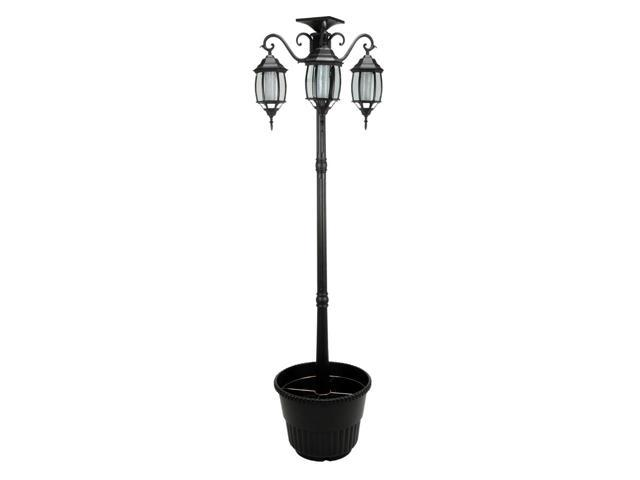 10 Ft Light Post : Ft in tall solar lamp post and planter heads