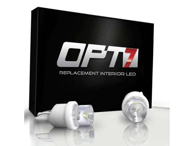4 Pack - OPT7® Advanced Bright LEDs - T10/194/168 Bulbs - Torch White Light Car Interior
