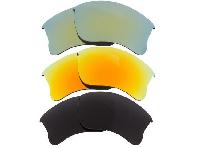 New SEEK Replacement Lenses for Oakley HALF JACKET 2.0 Grey Yellow Green Mirror