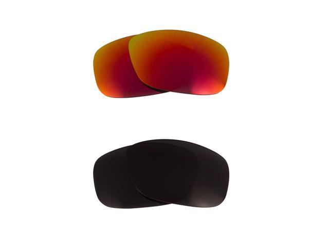 New SEEK Polarized Replacement Lenses for Oakley TEN Black Red Mirror