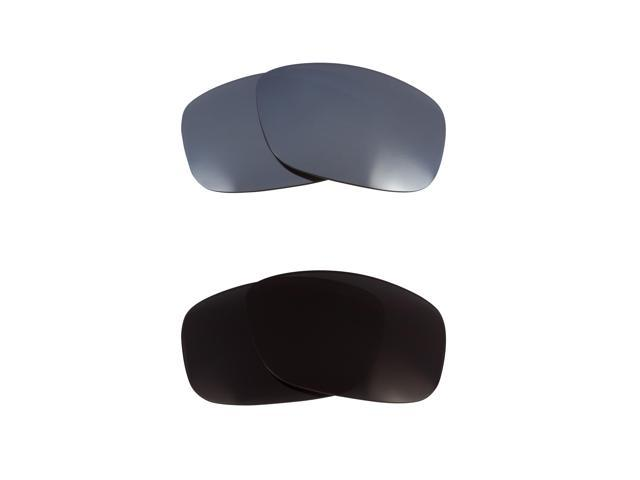 New SEEK Replacement Lenses for Oakley TEN Black Silver Mirror 100% UV