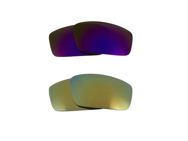 Best SEEK Replacement Lenses for Oakley SQUARE WIRE (2006) Green Purple Mirror