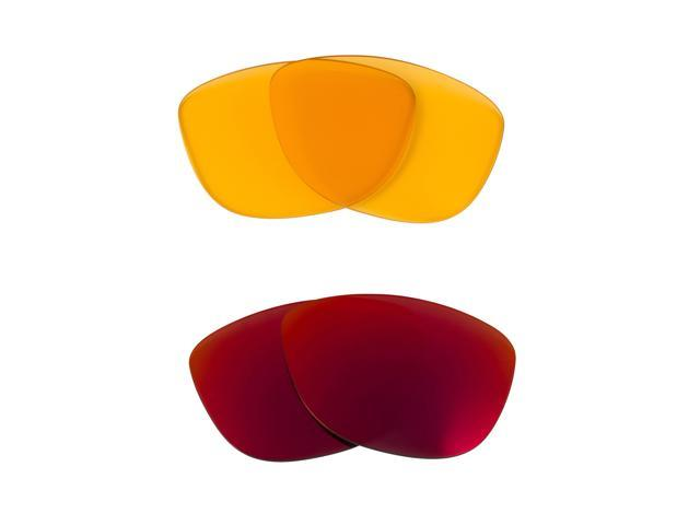 Best SEEK Replacement Lenses for Oakley Sunglasses JUPITER HI Yellow Red Mirror