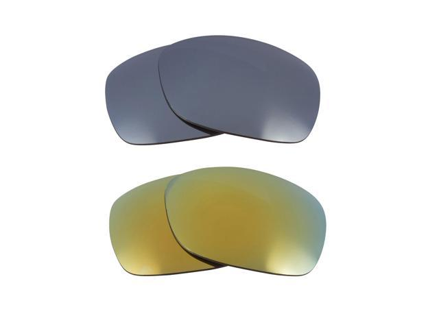 New SEEK Replacement Lenses for Oakley SIDEWAYS Silver Mirror Green