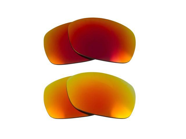 Best SEEK Polarized Replacement Lenses for Oakley SIDEWAYS Red Yellow Mirror