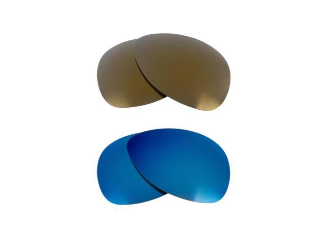 Best SEEK Replacement Lenses for Oakley PLAINTIFF Gold Blue Mirror
