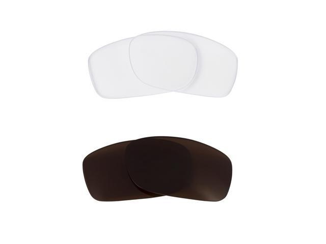 New SEEK Replacement Lenses for Oakley Sunglasses FIVES 3.0 Clear Brown