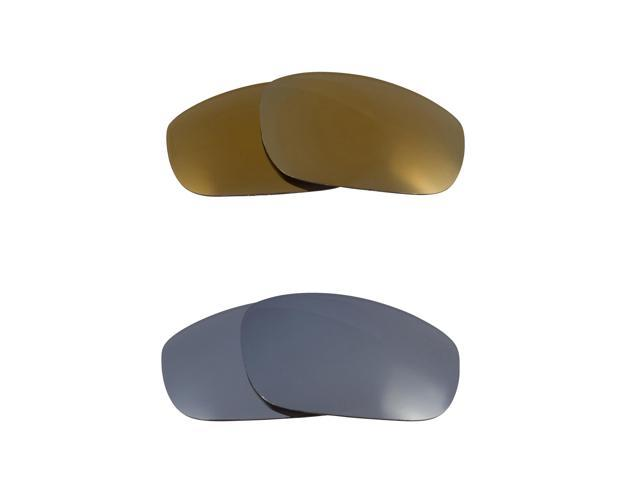 Best SEEK Replacement Lenses for Oakley Sunglasses FIVES 4.0 Gold Silver Mirror