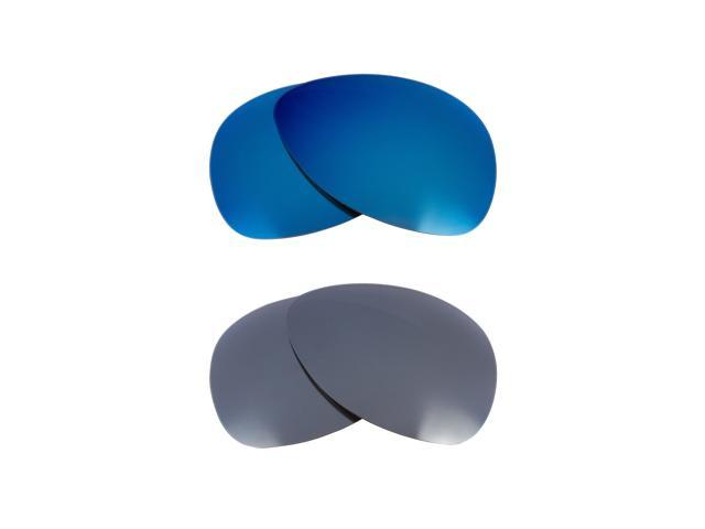 Best SEEK Polarized Replacement Lenses for Oakley PLAINTIFF Silver Mirror Blue
