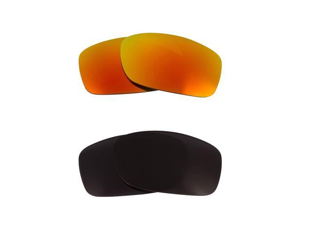 New SEEK Replacement Lenses for Oakley Sunglasses FIVES 3.0 Black Yellow Mirror