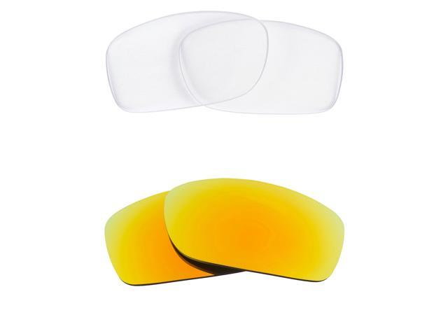 Best SEEK Replacement Lenses for Oakley FIVES SQUARED Clear Yellow Mirror