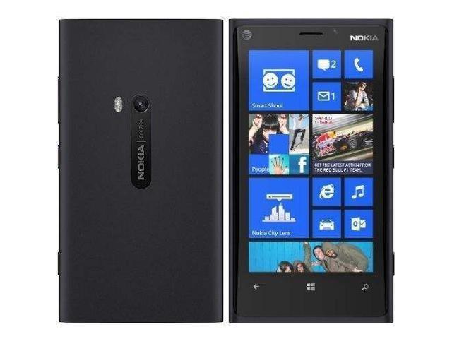 "Nokia Lumia 920 32GB 4G LTE Black 32GB 8.7 MP Camera Unlocked GSM Smart Phone 4.5"" 1GB RAM"
