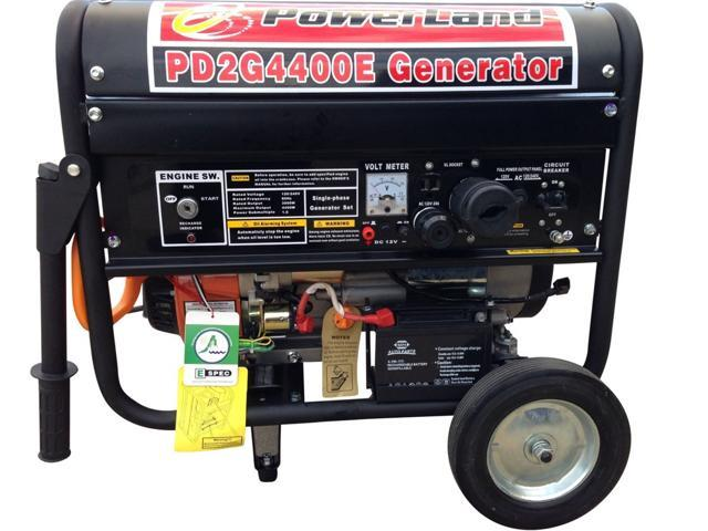 POWERLAND 4400W DUAL FUEL (GASOLINE AND LPG) GENERATOR 7.5HP