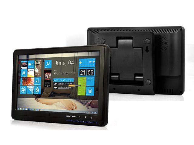TeKit 10.1 Inch 16:9 Touchscreen TFT LCD Monitor with HDMI+ AV+VGA+YPbPr