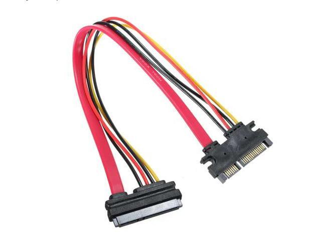 7+15 Pin Serial ATA SATA Male to Female Data Power Combo Extension Cable M/F  50cm/1.64ft