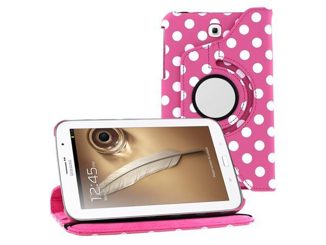 Hot Pink Polka Dots Design Rotating 360 Case Cover Stand for Samsung Galaxy Note 8.0 n5100 n5110