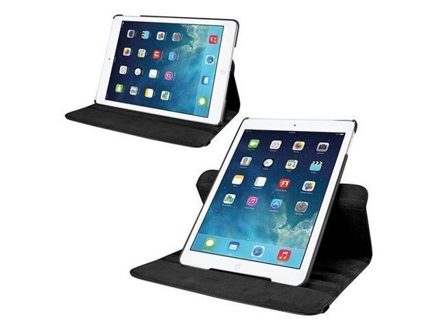 Black 360 Degree Rotating PU Leather Case Smart Cover Stand for Apple Ipad Air 5