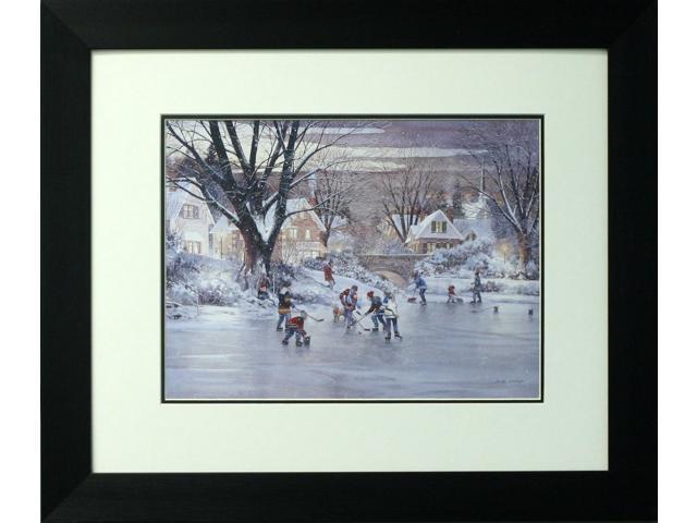 Hometown hockey painting