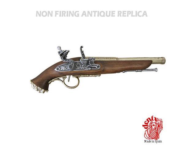 Replica pirate flintlock pistol, 18th century