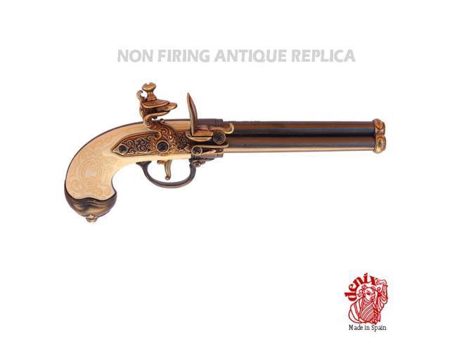 Replica italian 3-cannon pistol manufactured by lorenzoni, 1680