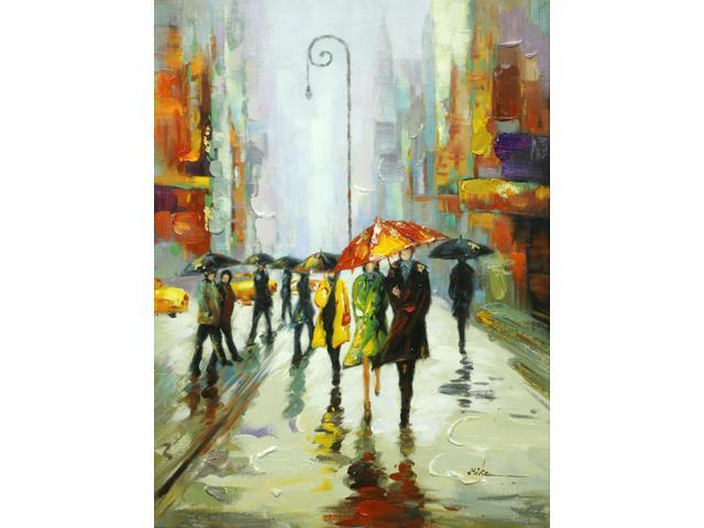 City life painting