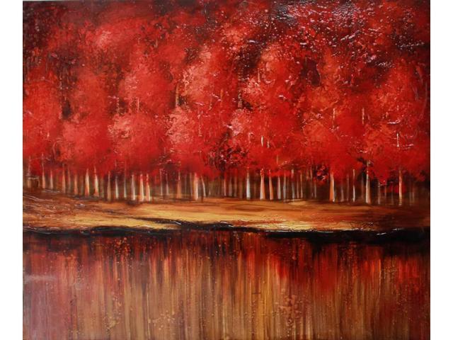 Autumn reflection painting