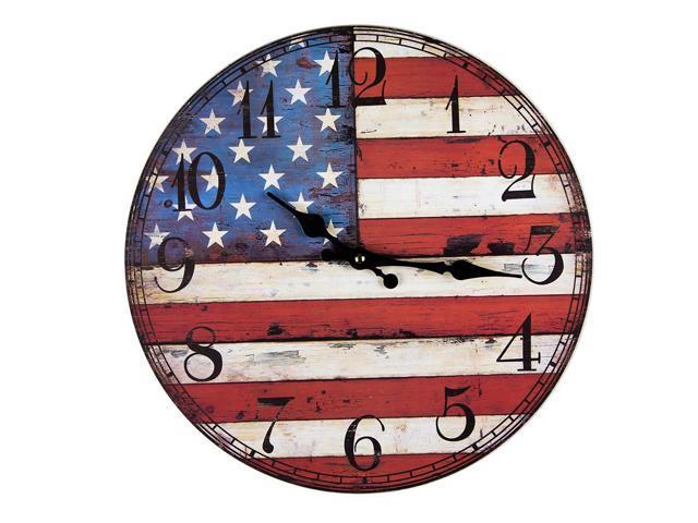 Us flag clock
