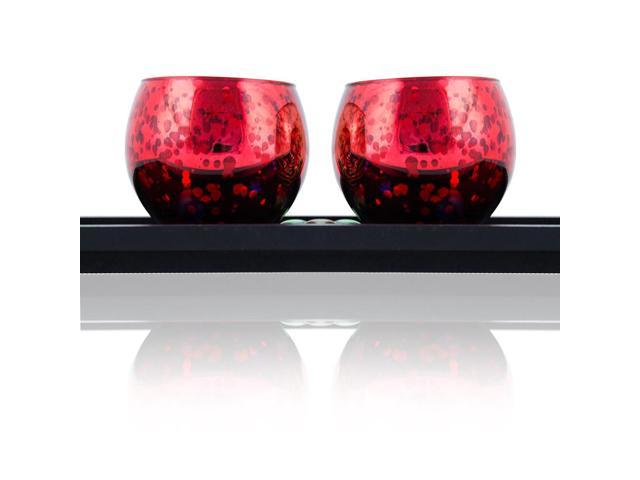 Small red pair of votive