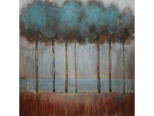 Indigo woods painting