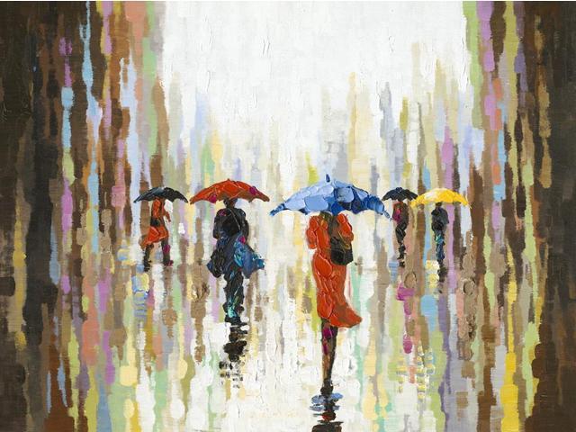 Umbrella day painting