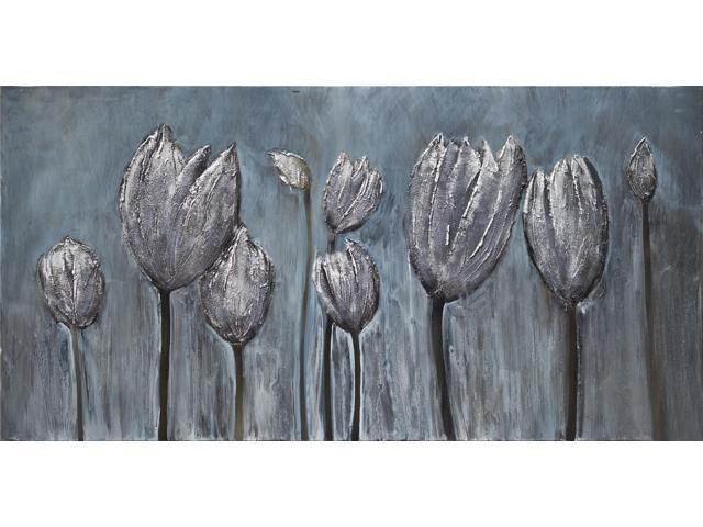 Tulips in grey painting