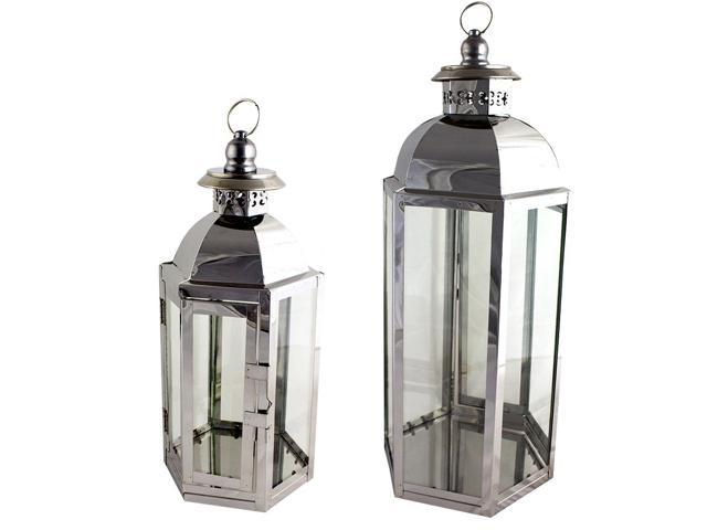 Modern lantern temple top style pair