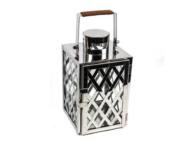 Modern steel criss cross lantern