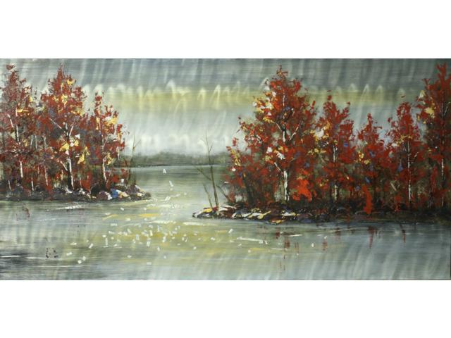 Lakeside view painting