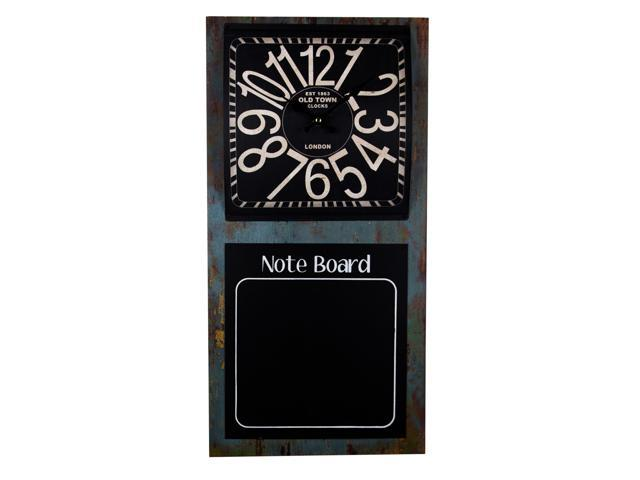 Chalk board and clock duo