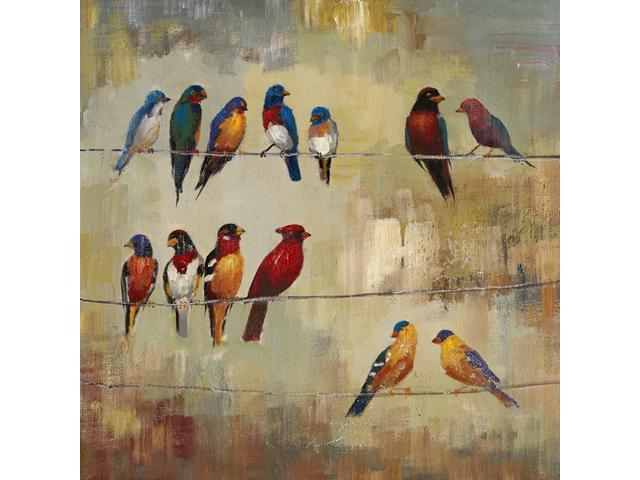 Birds of a feather painting