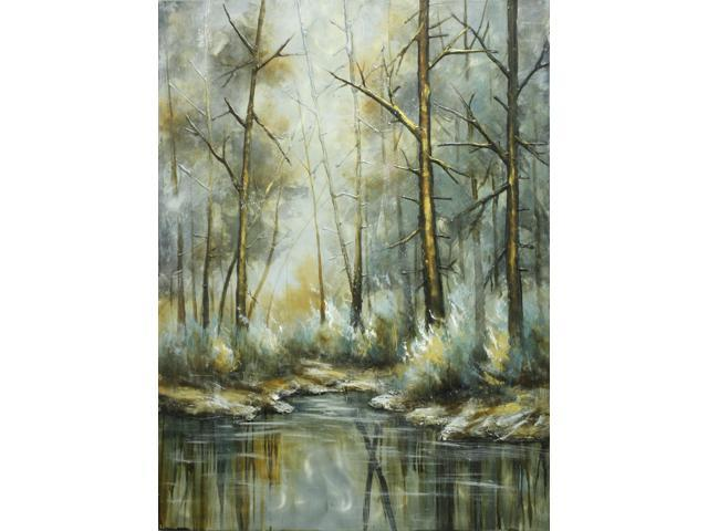 Winter in the woods painting