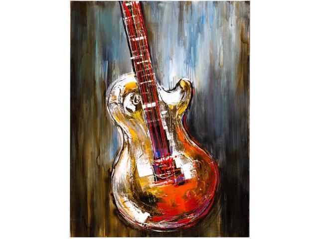 Single guitar painting