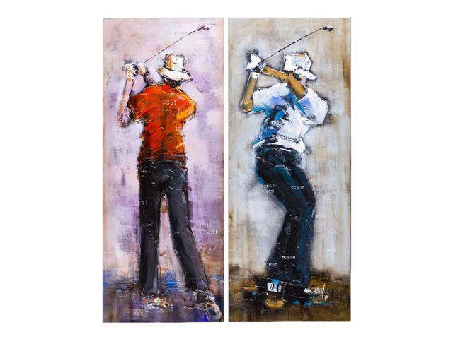 Golf player painting set