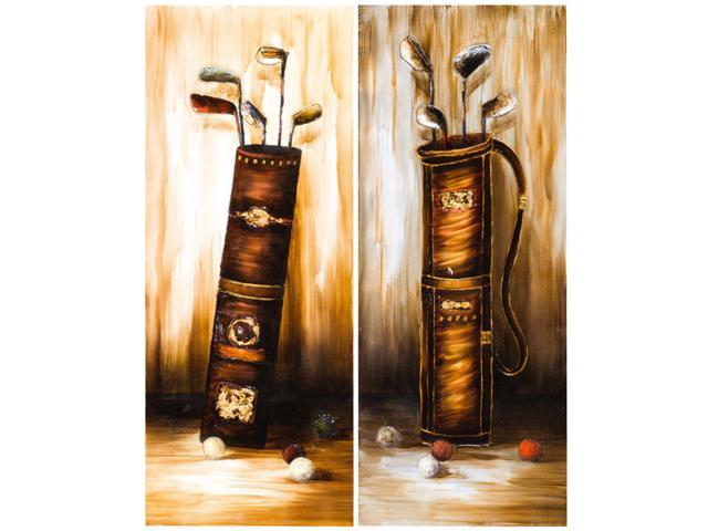 Father's golf clubs painting duo