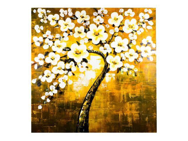 Yellow white spring tree