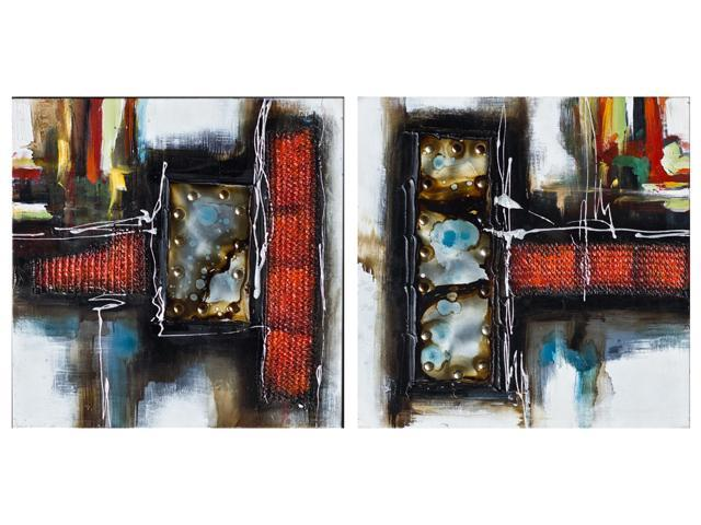 Abstract painting duo set