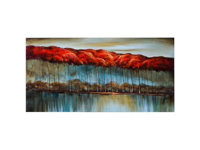 Autumn at the lake painting