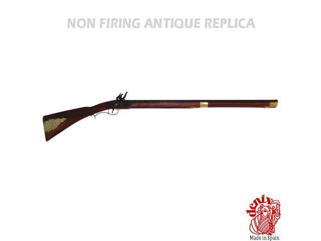 Replica kentucky rifle, usa 19th century