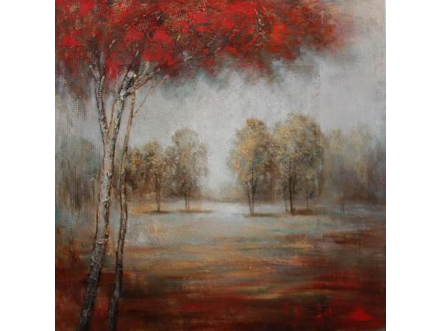 Painted autumn painting
