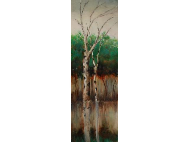 Birch buddies painting