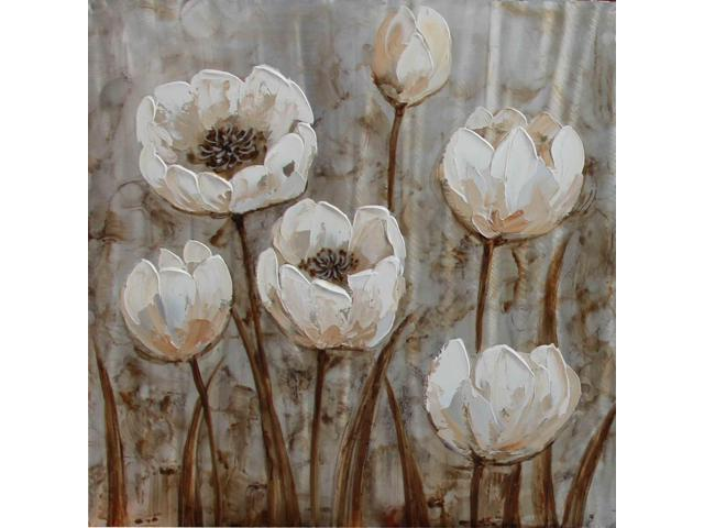 Shimmering tulips i painting