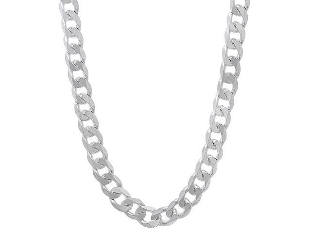 5.5mm Solid 925 Sterling Silver Beveled Cuban Curb Link Italian Chain, 30
