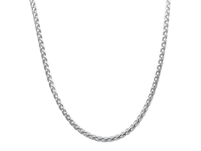 5mm Solid 925 Sterling Silver Italian Crafted Wheat Spiga Chain, 22