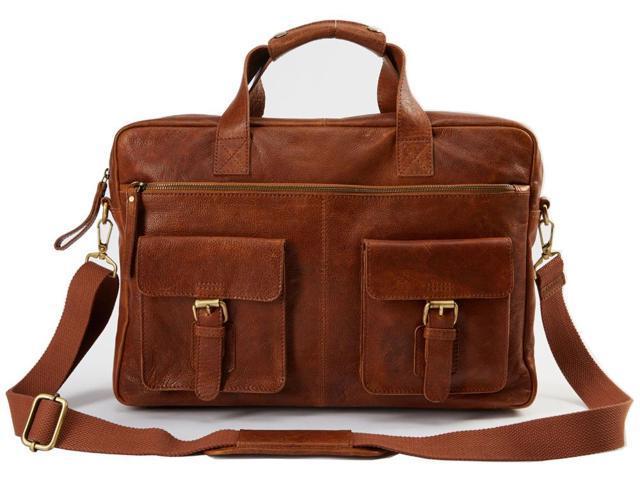 rawlings rugged briefcase cognac - newegg